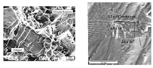 BESBlog_Photomicrograph of metallic fracture surfaces with characteristic striations