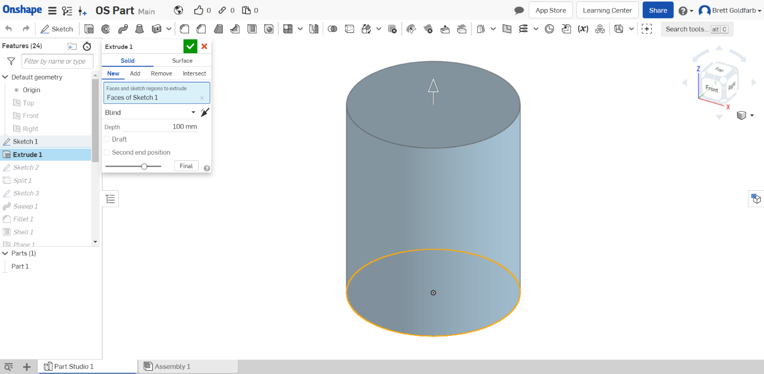 solidworks_vs_onshape-OnshapeExtrude